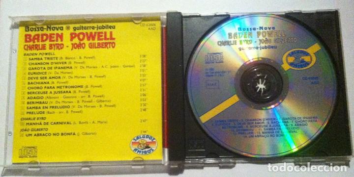 CDs de Música: BADEN POWELL w/ CHARLIE BYRD & GILBERTO - bossa nova - CD ITALIANO 1992 - SALUDOS AMIGOS - Foto 3 - 160560710