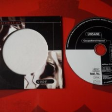 CDs de Música: UNSANE - CD ALBUM PROMOCIONAL OCCUPATIONAL HAZARD (HARDCORE 1997 ). Lote 160567090