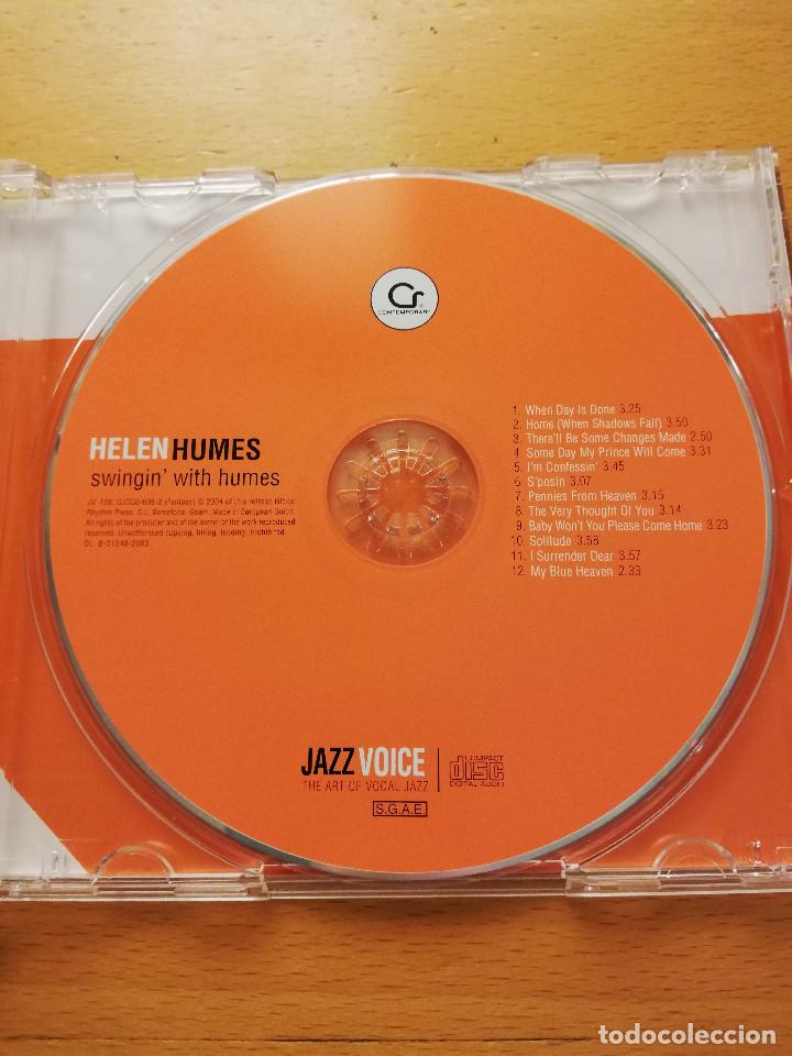 CDs de Música: HELEN HUMES. SWINGIN' WITH HUMES (CD) JAZZ VOICE - Foto 2 - 160590538