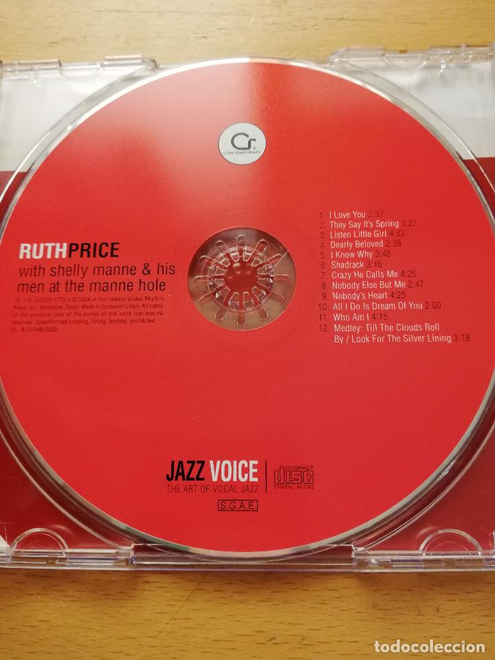 CDs de Música: RUTH PRICE WITH SHELLY MANNE & HIS MEN AT THE MANNE HOLE (CD) JAZZ VOICE - Foto 2 - 160591218