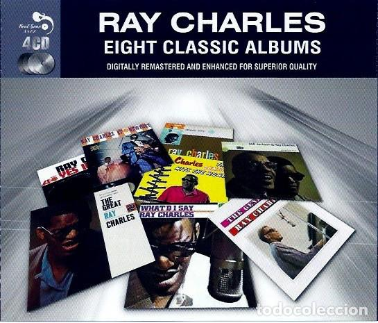RAY CHARLES EIGHT CLASSIC ALBUMS 4 CD BOX (Música - CD's Jazz, Blues, Soul y Gospel)