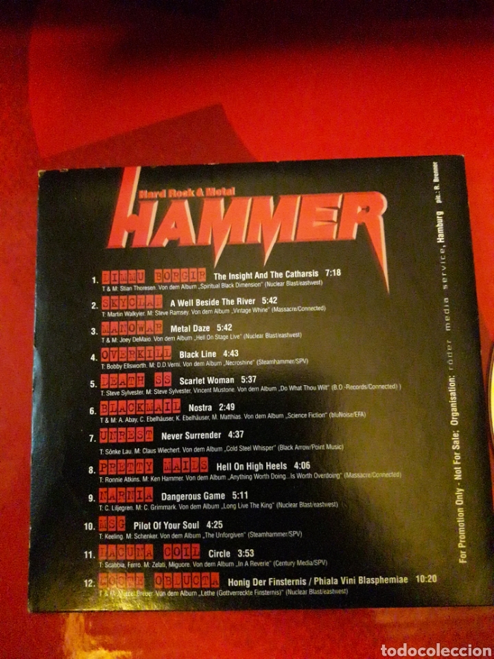 CDs de Música: Off Road Tracks Vol 17 CD Dimmu Borgir Skyclad Manowar Overkill Death SS Blackmail Unrest etc - Foto 4 - 160613892
