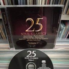 CDs de Música: 25 SOUL CLASSICS - MARVIN GAYE, MARTHA & THE VANDELLAS, PHYLLIS NELSON.... Lote 160688910