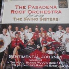 CDs de Música: 2 CD PASADENA,ROOF ORCHESTRA & SWING SISTERS-TAKE ME BACK+SENTIMENTAL JOURNEY. Lote 160692358