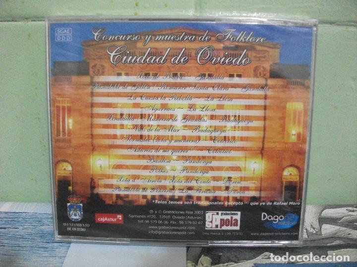 CDs de Música: CONCURSO Y MUESTRA DE FOLKLORE CIUDAD DE OVIEDO BANDINAS TRADICIONALES ASTURIAS CD PRECINTADO PEPETO - Foto 2 - 160697934