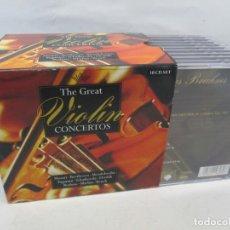 CDs de Música: THE GREAT VIOLIN. CONCIERTOS. MOZART. BEETHOVEN. MENDELSSOHN. PAGANINI...10 CD. BRILLIANT CLASICS. Lote 160771322