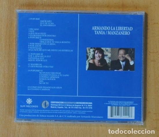 CDs de Música: ARMANDO MANZANERO / TANIA LIBERTAD - ARMANDO LA LIBERTAD - CD - Foto 2 - 160836734