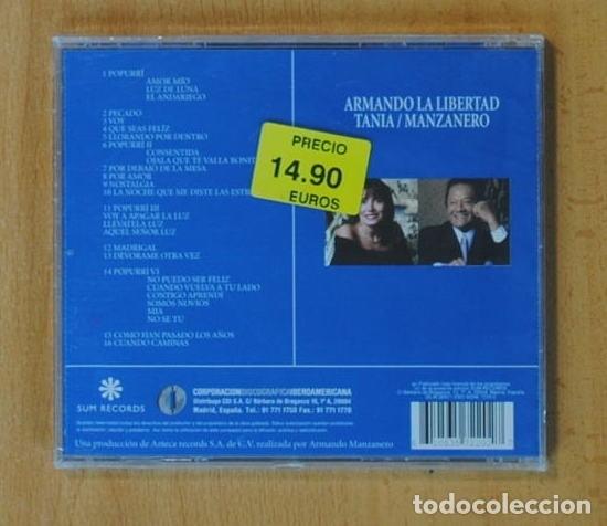 CDs de Música: ARMANDO MANZANERO / TANIA LIBERTAD - ARMANDO LA LIBERTAD - CD - Foto 2 - 160836768