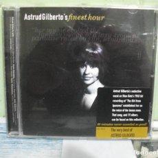CDs de Música: ASTRUD GILBERTO´S FINEST HOUR / THE VERY BEST ASTRUD GILBERTO CD ALBUM VERNE BOSSA NOVA PEPETO. Lote 160868810