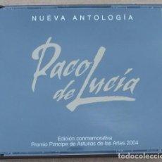CDs de Música: PACO DE LUCIA - NUEVA ANTOLOGIA - ED. CONMEMORATIVA PRINCIPE DE ASTURIAS 2004 (2CD) 2004 - 27 TEMAS. Lote 160871546