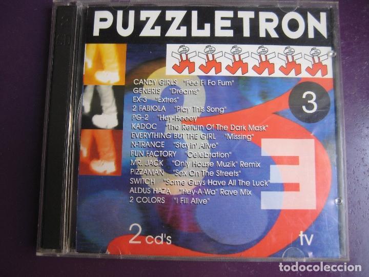 PUZZLETRON 3 DOBLE CD BOY RECORDS 1995 - ELECTRONICA - HOUSE - MAKINA - 25 TEMAS (Música - CD's Techno)