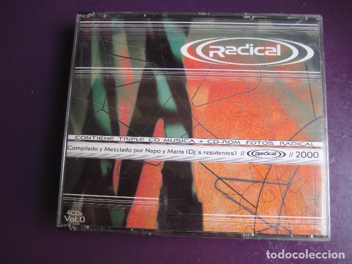RADICAL VOL. 0 TRIPLE CD + CD ROM CON FOTOS - NEW RECORDS 2000 - ELECTRONICA TRANCE EURO HOUSE (Música - CD's Techno)