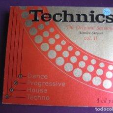 CDs de Música - Technics: The Original Sessions Vol. II CUATRO CDS VALE MUSIC 1998 - TECHNO HOUSE PROGRESSIVE DANCE - 161071838