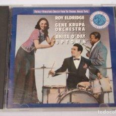 CDs de Música: ROY ELDRIDGE WITH THE GENE KRUPA ORCHESTRA FEATURING ANITA O'DAY ( UPTOWN ) USA-1990 CD. Lote 161143850