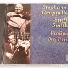 CDs de Música: STEPHANE GRAPELLI & STUFF SMITH ( VIOLINS NO END ) 1996-USA CD. Lote 161151806