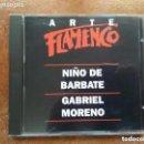 CDs de Música: ARTE FLAMENCO ORBIS. NIÑO DE BARBATE. GABRIEL MORENO (CD). Lote 161236862