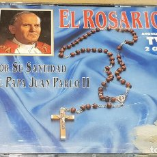 CDs de Música: EL ROSARIO / POR SU SANTIDAD EL PAPA JUAN PABLO II / DOBLE CD-BOX - DIVUCSA-1994 / LUJO.. Lote 161348802