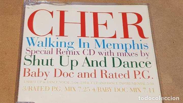 CHER / WALKING IN MEMPHIS / SPECIAL REMIX CD / 4 TEMAS / CALIDAD LUJO. (Música - CD's Disco y Dance)