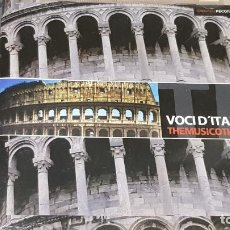 CDs de Música: VOCI D'ITALIA / THEMUSICOTHEQUE / CD - SBM-2005 / 15 TEMAS / CALIDAD LUJO.. Lote 161358106