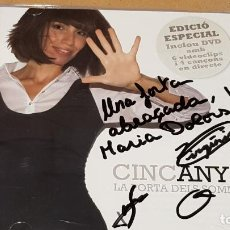 CDs de Música: FIRMADO !! LA PORTA DELS SOMNIS / CINC ANYS / EDICIÓ ESPECIAL / CD+DVD - DISC MEDI BLAU / LUJO.. Lote 161371798