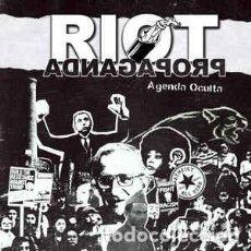 CDs de Música: RIOT PROPAGANDA - AGENDA OCULTA (DISCOLIBRO CD 2017, BOA MÚSICA 230BOA11236) NUEVO. Lote 161393898