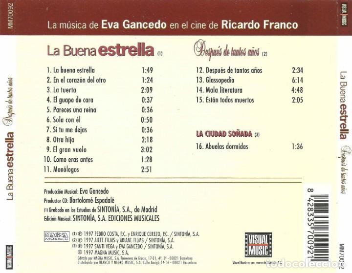 CDs de Música: LA BUENA ESTRELLA / Eva Gancedo CD BSO - Foto 2 - 161424170