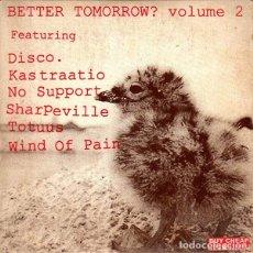 CDs de Música: VARIOUS – BETTER TOMORROW? VOLUME 2 --CD EN CARDBOARD--PUNK HARDCORE. Lote 161445854