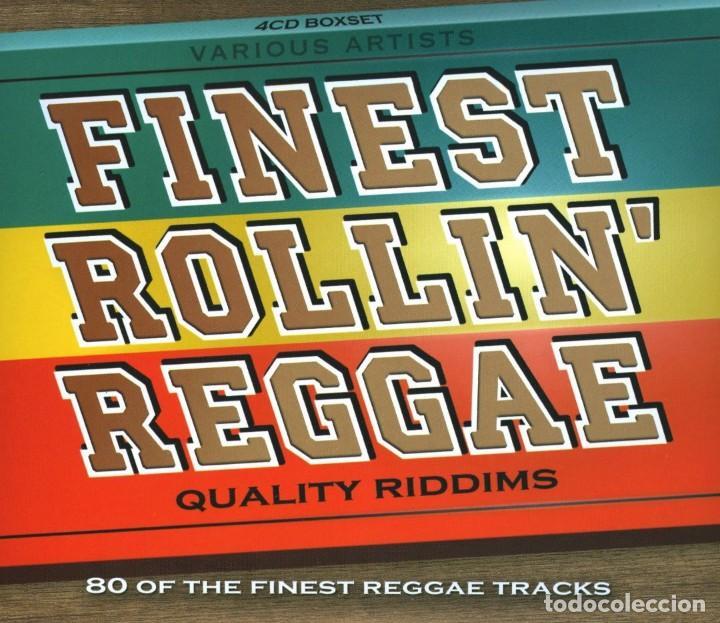 FINEST ROLLIN' REGGAE (QUALITY RIDDIMS) * BOX SET 4CD * 80 TRACKS * PRECINTADO (Música - CD's Reggae)