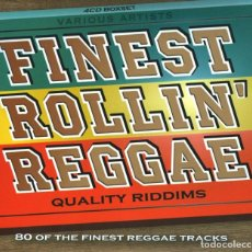 CDs de Música: FINEST ROLLIN' REGGAE (QUALITY RIDDIMS) * BOX SET 4CD * 80 TRACKS * PRECINTADO. Lote 161477146