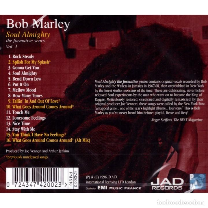 CDs de Música: BOB MARLEY * CD * Soul Almighty - The Formative Years Vol. 1 * Rare * Precintado - Foto 2 - 161485770