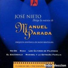 CD de Música: MÚSICA DE CINE: MANUEL PARADA / JOSÉ NIETO CD BSO. Lote 161596522