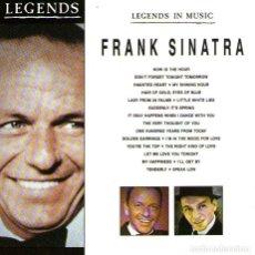 CDs de Música: FRANK SINATRA - LEGENDS IN MUSIC - CD ÁLBUM DE 20 TRACKS - ED. WISEPACK LONDON - AÑO 1989.. Lote 161628794