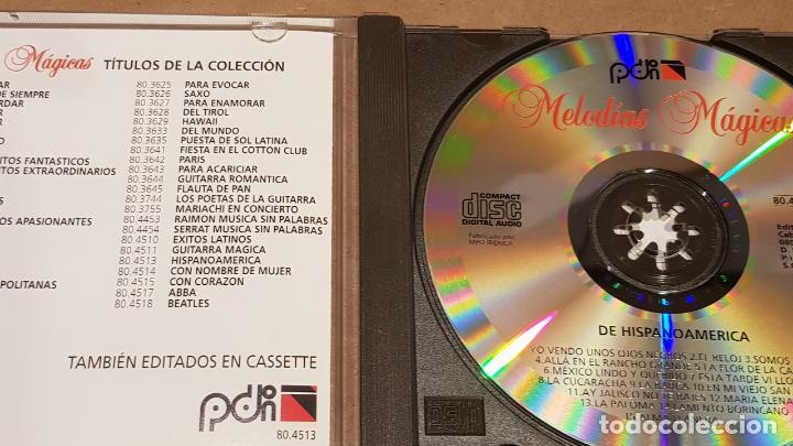 CDs de Música: DE HISPANOAMÉRICA / COLECCIÓN MELODÍAS MÁGICAS / CD - PDI-1998 / 15 TEMAS / CALIDAD LUJO. - Foto 2 - 189936393