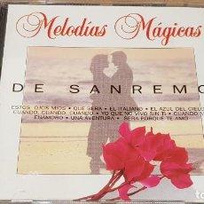 CDs de Música: DE SAN REMO / COLECCIÓN MELODÍAS MÁGICAS / CD - PDI-1994 / 10 TEMAS / CALIDAD LUJO.. Lote 161675782