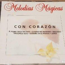 CDs de Música: CON CORAZÓN / COLECCIÓN MELODÍAS MÁGICAS / CD - PDI-1998 / 15 TEMAS / CALIDAD LUJO.. Lote 161676206