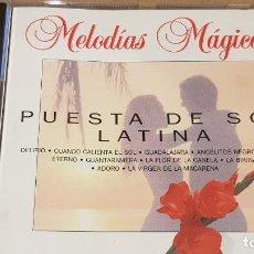 CDs de Música: PUESTA DE SOL LATINA / COLECCIÓN MELODÍAS MÁGICAS / CD - PDI-1994 / 11 TEMAS / CALIDAD LUJO.. Lote 161712686