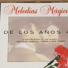 CDs de Música: DE LOS AÑOS 40 / COLECCIÓN MELODÍAS MÁGICAS / CD - PDI-1994 / 12 TEMAS / CALIDAD LUJO.. Lote 161713318