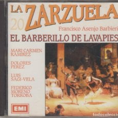CDs de Música: EL BARBERILLO DE LAVAPIÉS CD LA ZARZUELA 20 1992. Lote 161746546