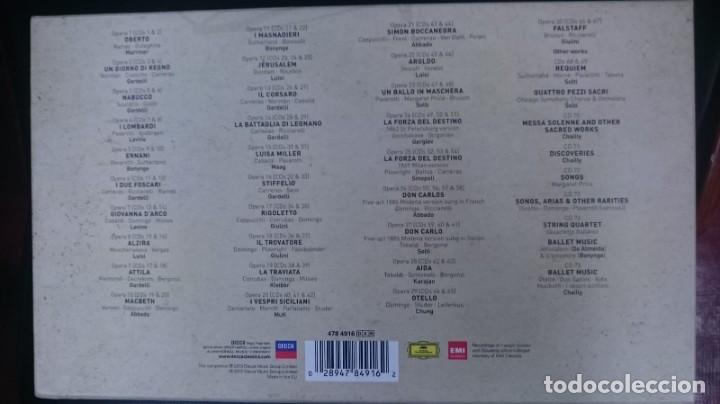 CDs de Música: VERDI - OPERA OMNIA - BOX 75 CD - Foto 2 - 161771226