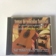CDs de Música: TEMAS DE PELÍCULAS FAMOSAS - INTERPRETADOS POR ROMERO IGLESIAS. Lote 161776848