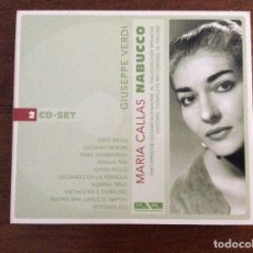 CDs de Música: MARÍA CALLAS NABUCCO 2 CD - SET. Lote 161915582