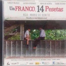 CDs de Música: UN FRANCO, 14 PESETAS / MARIO DE BENITO CD BSO. Lote 222086767