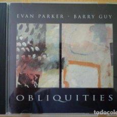 CDs de Música: EVAN PARKER, BARRY GUY - OBLIQUITIES (MAYA, UK, 1995). Lote 161935270