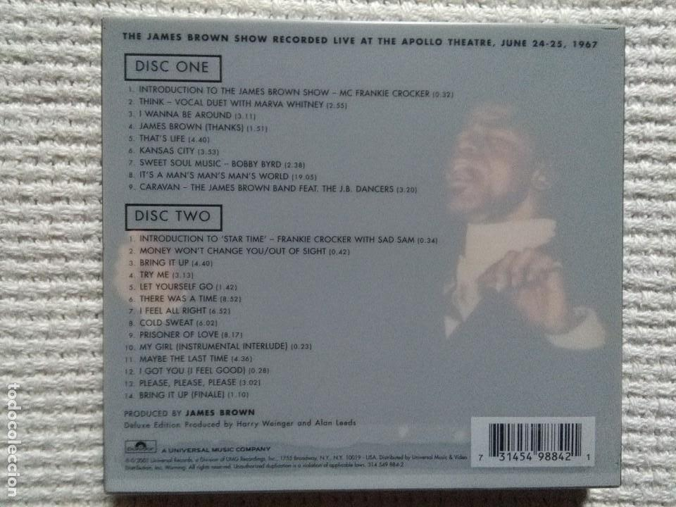CDs de Música: JAMES BROWN - LIVE AT THE APOLLO VOLUME 2 2 CD + BOOKLET DELUXE USA 2001 - Foto 2 - 161953126