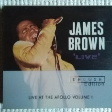 CDs de Música: JAMES BROWN - '' LIVE AT THE APOLLO VOLUME 2 '' 2 CD + BOOKLET DELUXE USA 2001. Lote 161953126