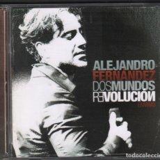 CDs de Música: ALEJANDRO FERNANDEZ - DOS MUNDOS REVOLUCION , EN VIVO (CD+DVD) 2010 RF-1664 , PERFECTO ESTADO. Lote 161973986