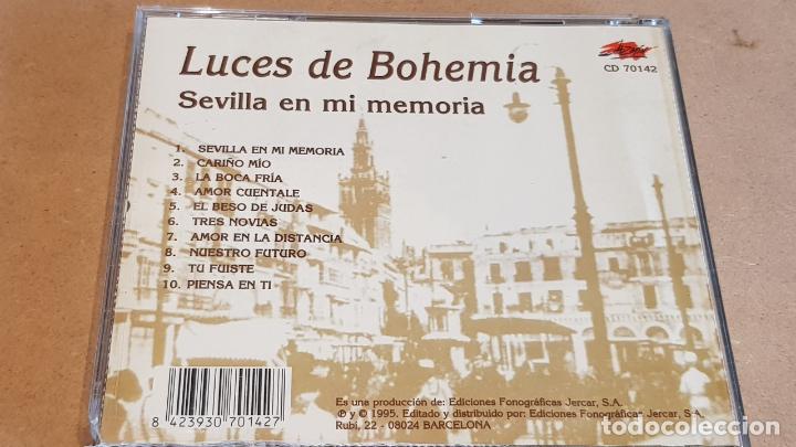 CDs de Música: LUCES DE BOHEMIA / SEVILLA EN MI MEMORIA / CD - JAZMIN-1995 / NUEVO-DESPRECINTADO. - Foto 3 - 161983194