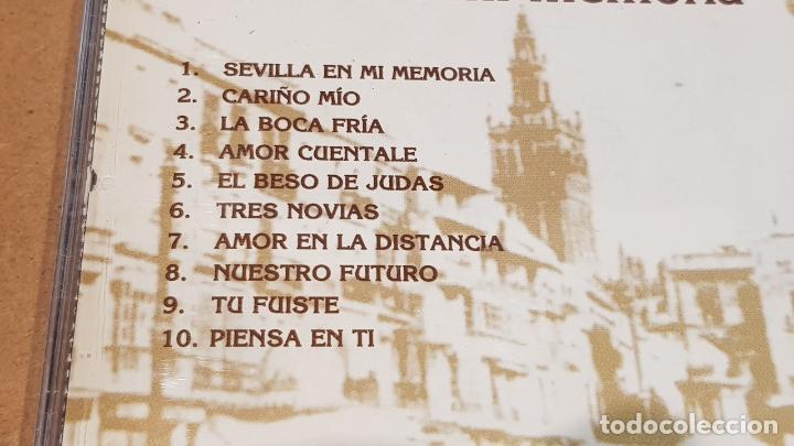CDs de Música: LUCES DE BOHEMIA / SEVILLA EN MI MEMORIA / CD - JAZMIN-1995 / NUEVO-DESPRECINTADO. - Foto 4 - 161983194