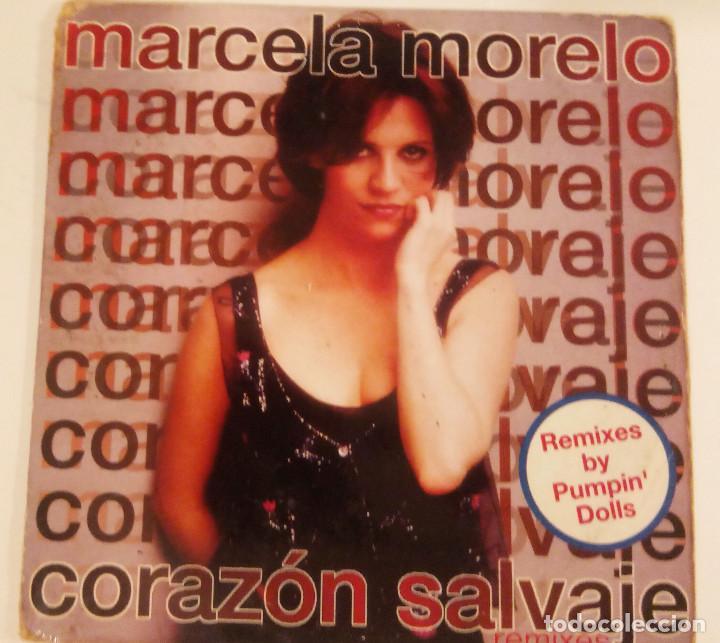 CD SINGLE DE MARCELA MORELO : CORAZÓN SALVAJE CON 2 MEZCLAS DE PUMPIN´ DOLLS (Música - CD's Pop)
