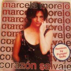 CDs de Música: CD SINGLE DE MARCELA MORELO : CORAZÓN SALVAJE CON 2 MEZCLAS DE PUMPIN´ DOLLS. Lote 162017678
